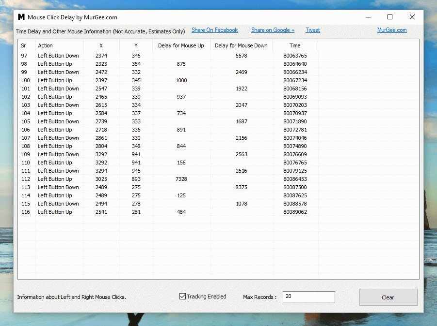 Measure Mouse Click Speed